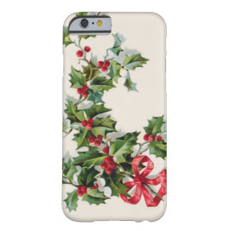 Holly Winterberry Red Ribbon Barely There iPhone 6 Case