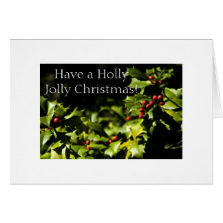 Holly With Berries Card