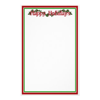 Holly with Berries & Text Stationery