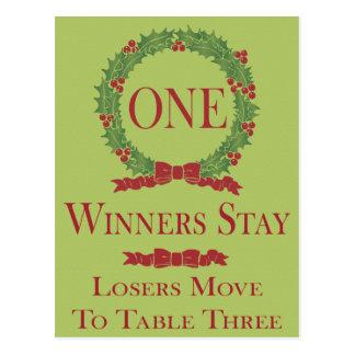 Holly Wreath Bunco Table Card #1