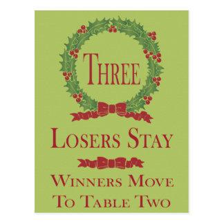 Holly Wreath Bunco Table Card #3