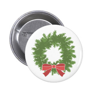 Holly Wreath Pinback Buttons