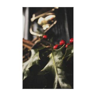 Holly Wreath Canvas Print