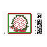 Holly Wreath Circle Photo Frame Stamps