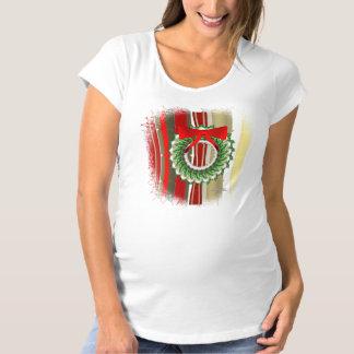 Holly Wreath Maternity T-Shirt