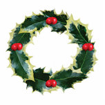 Holly Wreath Photo Cut Outs