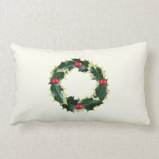 Holly Wreath Pillow