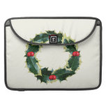 Holly Wreath Sleeve For MacBook Pro