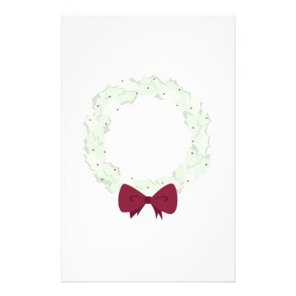 Holly Wreath Personalized Stationery