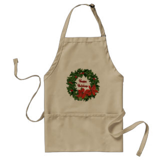 Holly Wreath Traditions Adult Apron