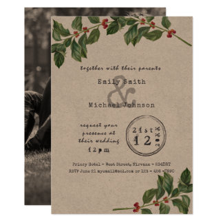 HOLLY Xmas Wedding/Engagement/Dinner Typeset Invitation