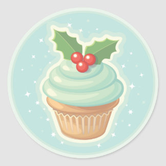 HollyDay Cupcake Classic Round Sticker