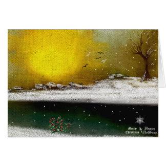 hollydays del navidad tarjeta de felicitación