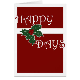HollyDays feliz 1 Tarjeta De Felicitación