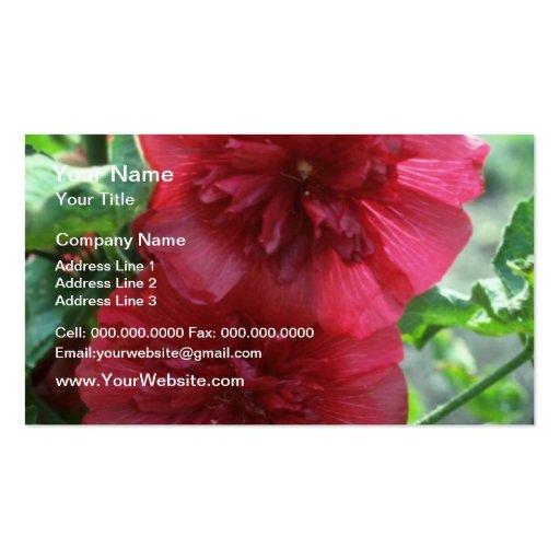 Hollyhock, (Alcea Rosea) flores Tarjetas De Visita