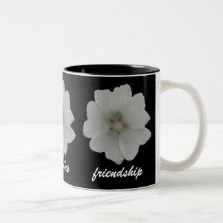 Hollyhock blanco tazas de café
