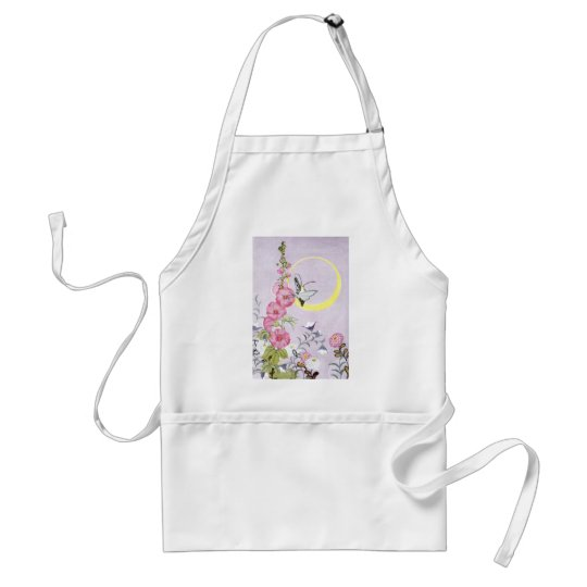 Hollyhock, Dahlia and Balloon Flowers Adult Apron