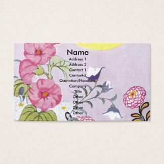 Hollyhock, Dahlia and Balloon Flowers Business Card