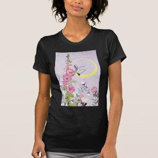 Hollyhock, Dahlia and Balloon Flowers T-Shirt