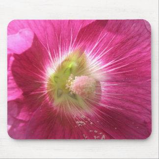 Hollyhock Deep Pink Mousepad