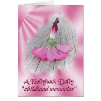 """""""Hollyhock Dolls"""" Card"""