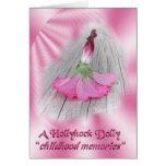 """""""Hollyhock Dolls"""" Greeting Card"""