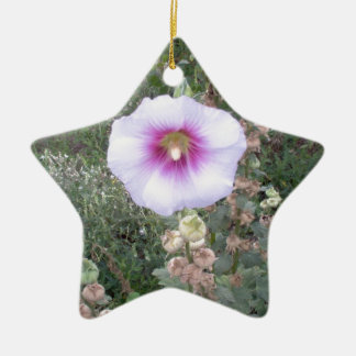 Hollyhock Double-Sided Star Ceramic Christmas Ornament