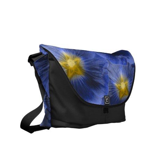 Hollyhock Flower Beautiful Blue Messenger Bag