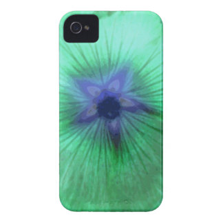 Hollyhock Flower Glowing Green Blackberry Bold Cas iPhone 4 Case-Mate Case