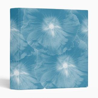 Hollyhock Flower Icy Blue Avery Binder