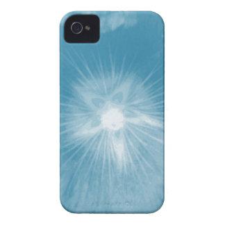 Hollyhock Flower Icy Blue iPhone 4 Case