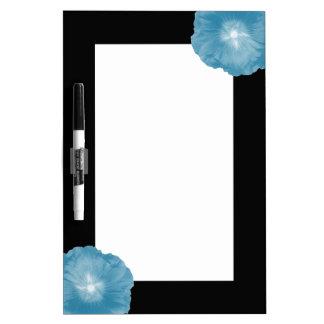 Hollyhock Flower Icy Blue Memo Board