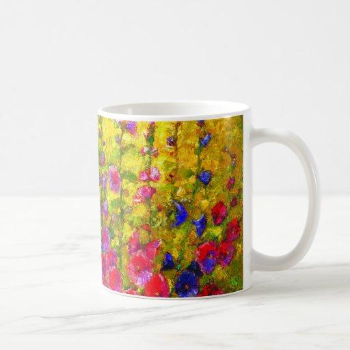 Hollyhock Garden  Party Coffee Mug by Sharles