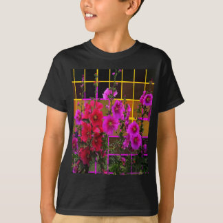 Hollyhock Garden Umber Patterned Gifts by Sharles T-Shirt