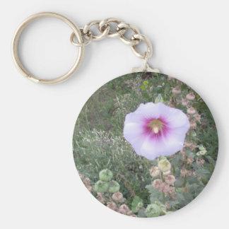 Hollyhock Keychain