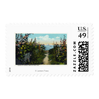 Hollyhock Lane View of the Harbor Stamp