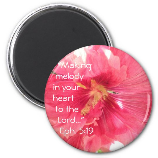 Hollyhock Melody Magnet