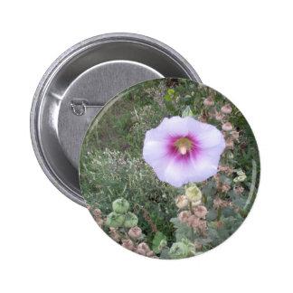 Hollyhock Pinback Button
