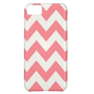 Hollyhock Pink Chevron iPhone 5C Cover