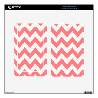 Hollyhock Pink Chevron Kindle Fire Decal