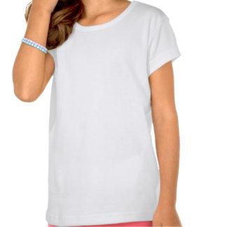 Hollyhock Pink White Tee Shirt