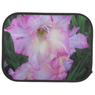 Hollyhock Purple Flowering Plant Car Mat