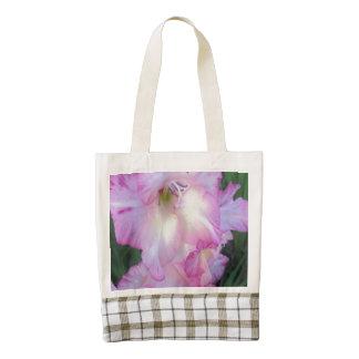 Hollyhock Purple Flowering Plant Zazzle HEART Tote Bag