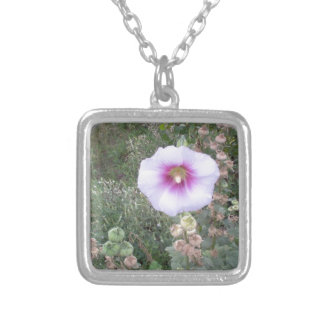 Hollyhock Silver Plated Necklace