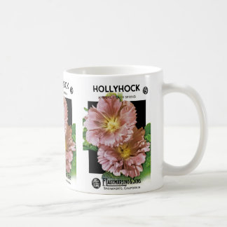Hollyhock Vintage Seed Packet Coffee Mug