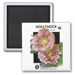 Hollyhock Vintage Seed Packet Fridge Magnets