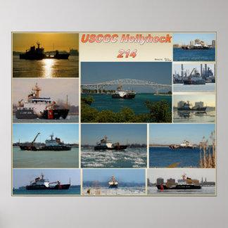 Hollyhock WLB-214 del cortador de USCGC Poster
