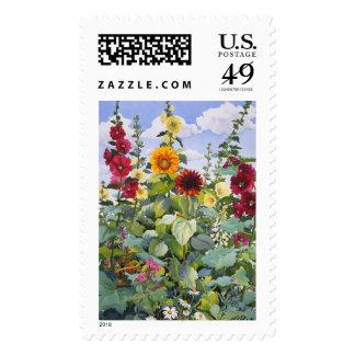 Hollyhocks and Sunflowers 2005 Stamp
