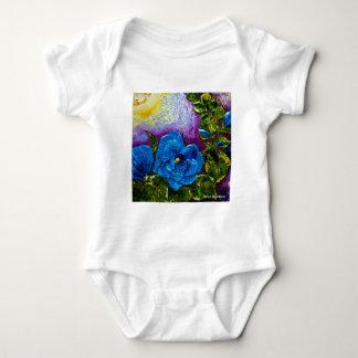 Hollyhocks azules body para bebé