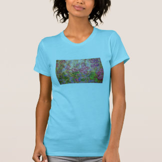 hollyhocks blooming T-Shirt